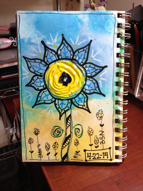 Exploring Art Journaling Day 22