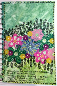 Day 5 of Exploring Art Journaling 3 with Christine Urias