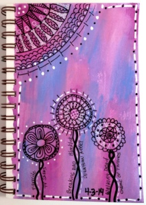 Exploring Art Journaling Day 3 using Caran D'ache Crayons
