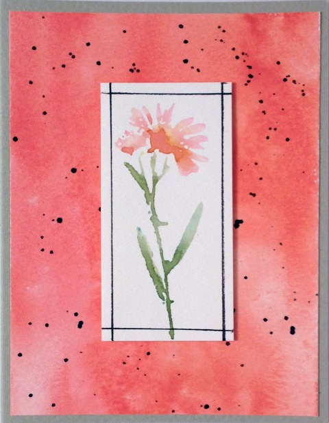 Watercolor Daisy