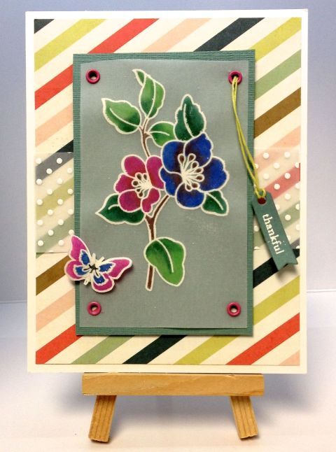June Kit Card 6 - Watercolor Crayon