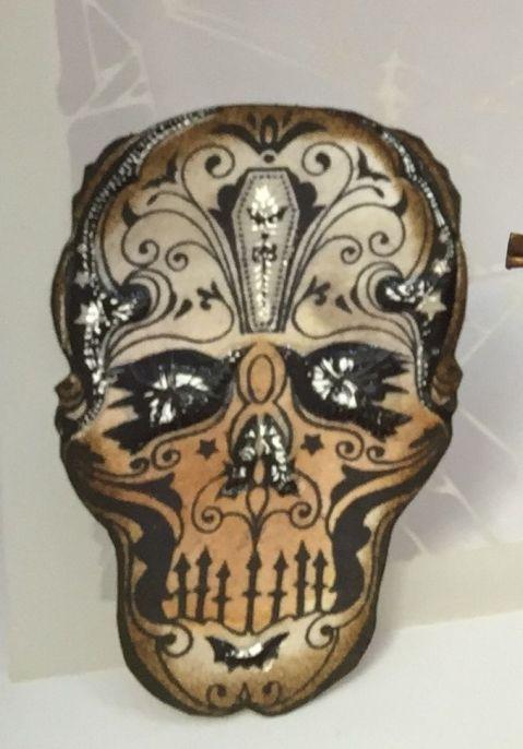 October - Tim HOltz Skull