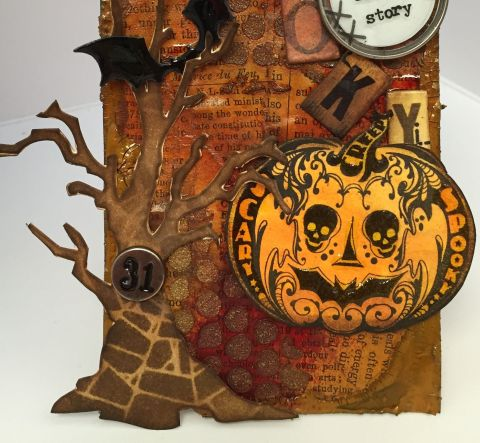 October Tim HOltz TAg Closeup