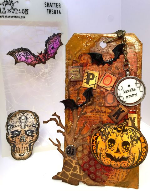 October - Tim Holtz Tag
