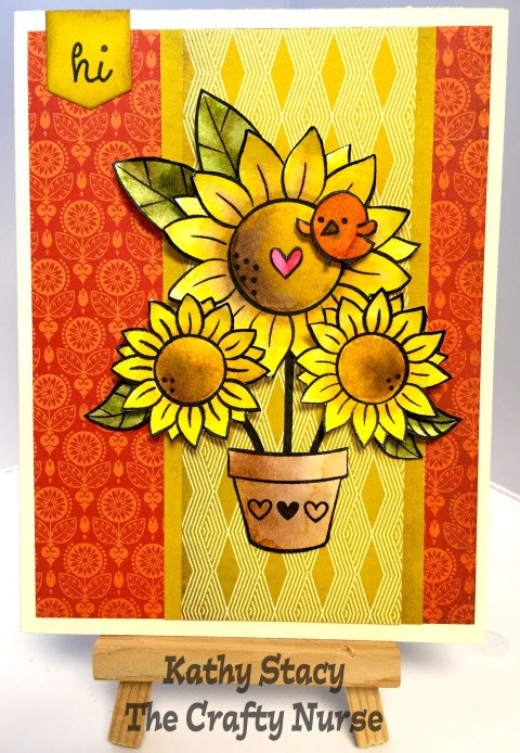 Watercolor Sunflower-wm