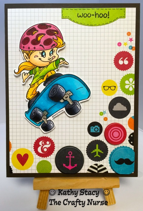 Kenny K; Skateboard Girl