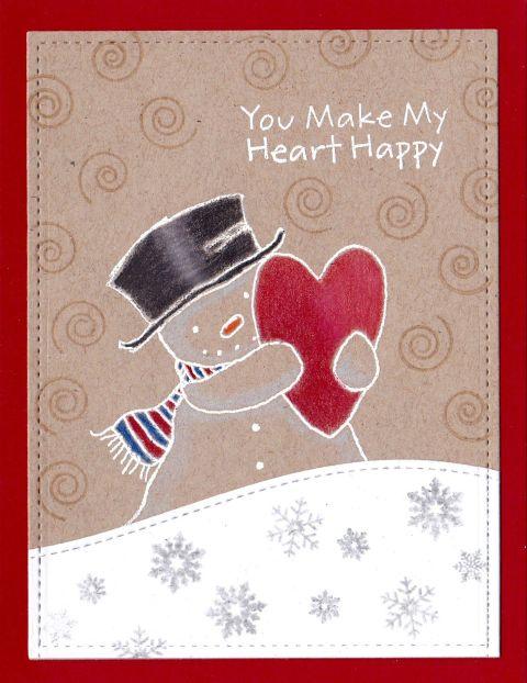 Snowman Heart