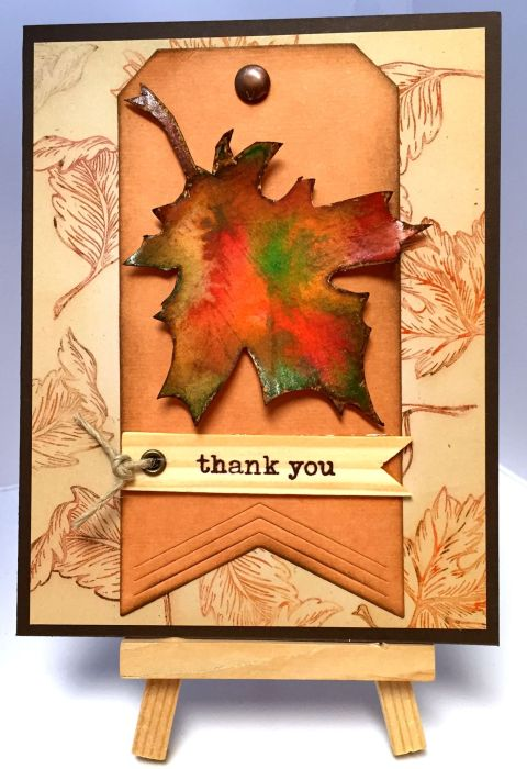 Thanks Watercolor Leaf