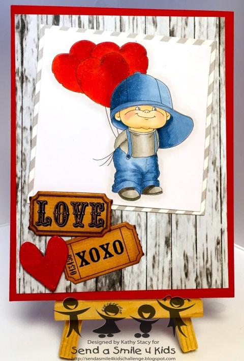 Boy with Heart - Stitchy Bear-wm