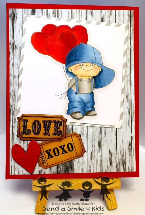 Boy with Heart - Stitchy Bear-wm