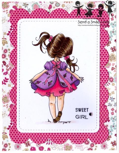 Sweet Girl - Digi Stamps 4 Joy-wm