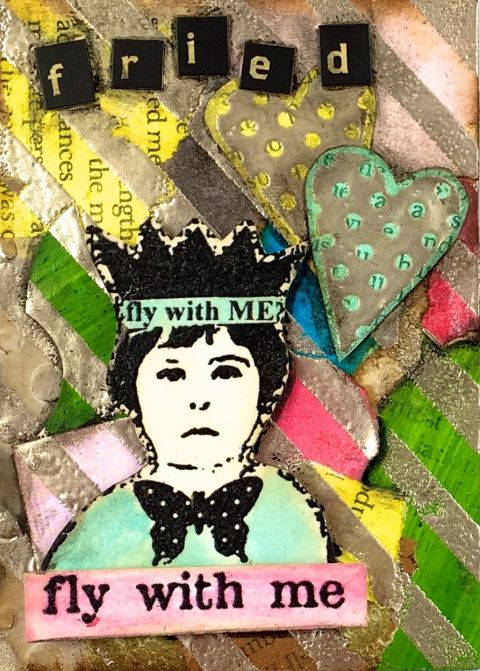 Mixed Media Mojo March Closeup