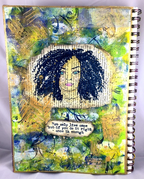 Journal Page - Let's Face it I; PO006 & Mae est Sentiments PS004 - wm